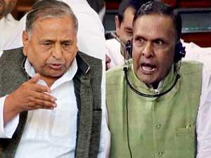 Mulayam Singh and Beni Prasad Verma