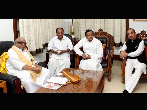 AK Antony, Ghulam Nabi Azad and P Chidambaram