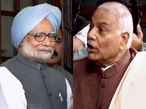 Manmohan Singh and Yashwant Sinha