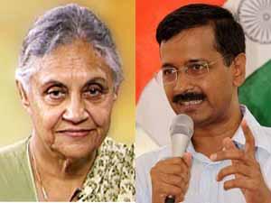 Shiela Dikshit and Arvind Kejriwal