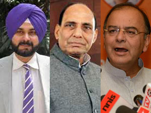 Sidhu. Rajnath and Jaitley