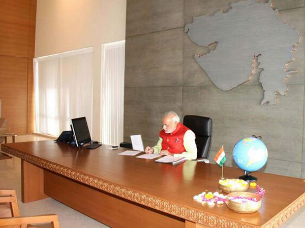 Modi & team to occupy new office