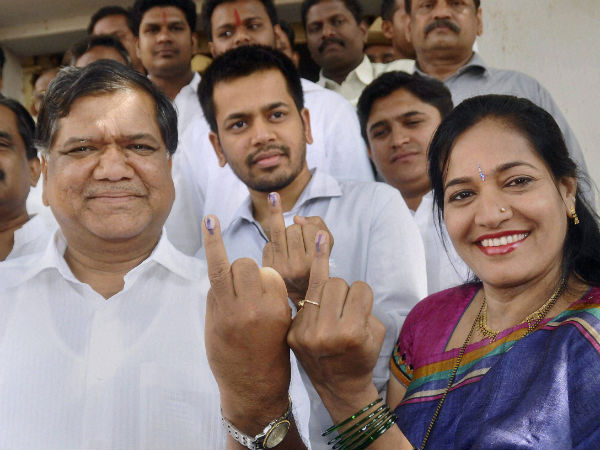 The CM after casting his ballot