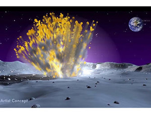 Nasa captures moon explosion