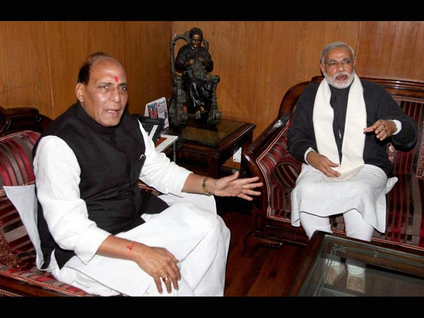 Rajnath with Modi