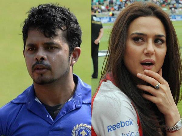 Sreesanth and Preity Zinta