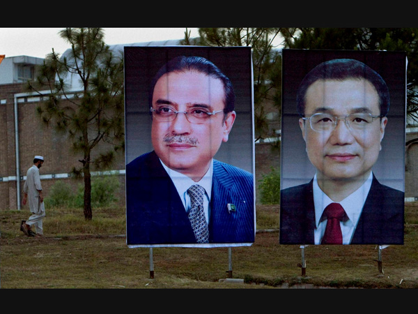 Asif Ali Zardari and Li Keqiang