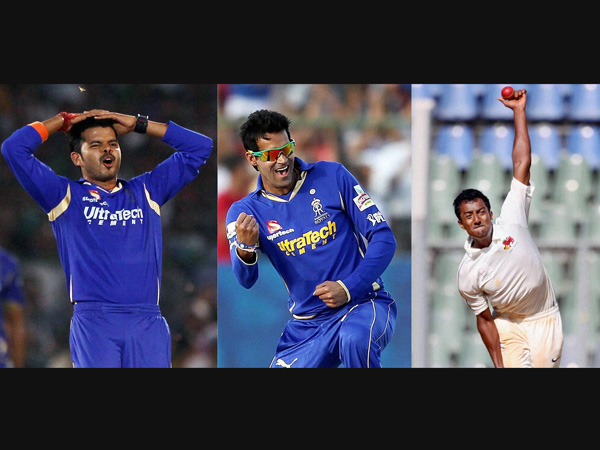 Sreesanth and 2 other tainted players