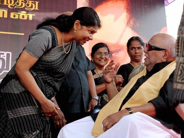 Karunanidhi with his daughter