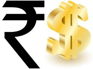 Rupee trims initial losses, still down