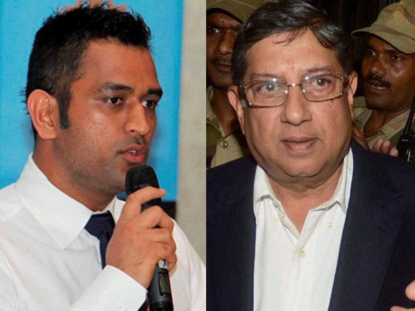 Dhoni and Srinivasan
