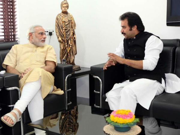 Modi with Bishnoi