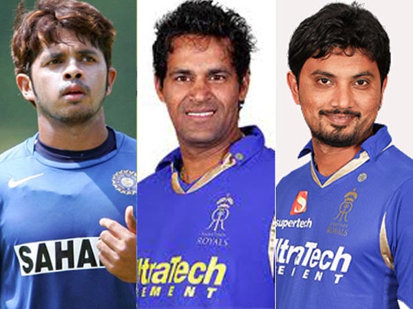 Sreesanth, Chandila and Trivedi