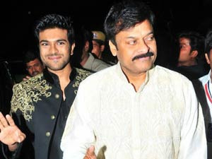 Chiranjeevi and Ram Charan