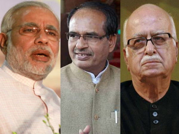 Modi, Chouhan and Advani