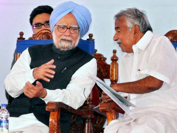 Manmohan Singh with Chandy