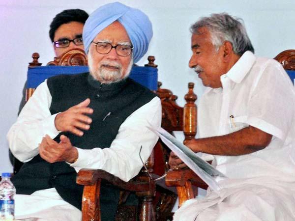 Manmohan Singh with Chandy