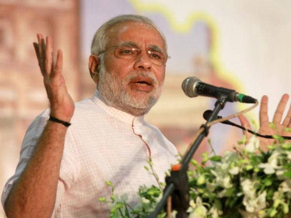 Modi 'speaks' at Goa Hindu convention