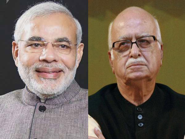 Protests outside Advani's residence