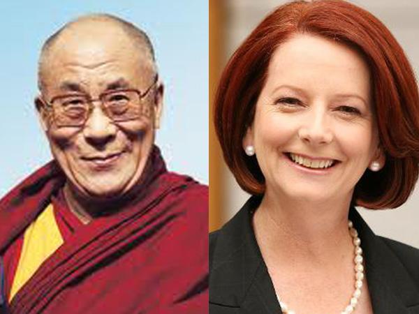 Dalai Lama Julia Gillard