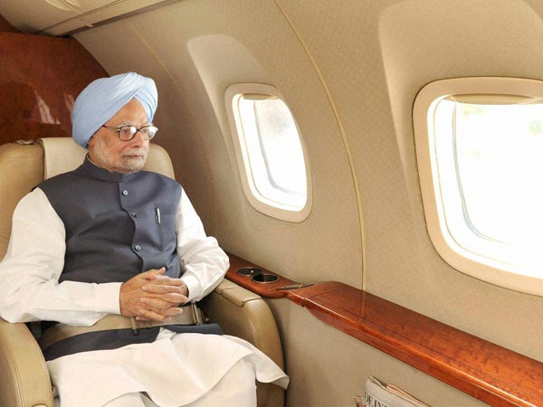 PM on an aerial survey of U'Khand