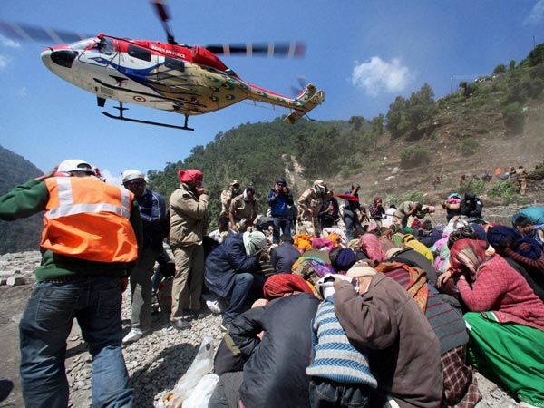 IAF Helicopter during U'khand rescue operation