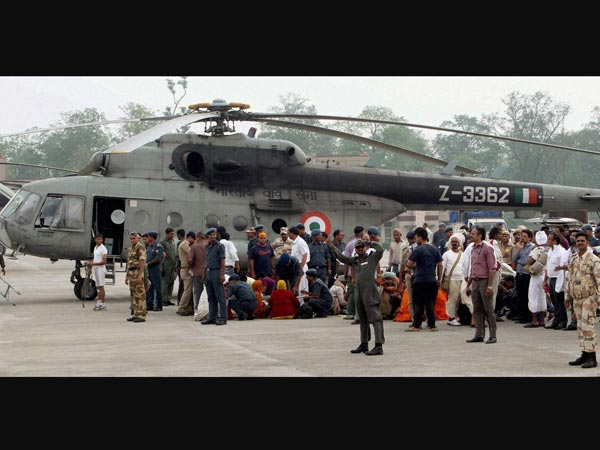 AF chopper during their relief operations