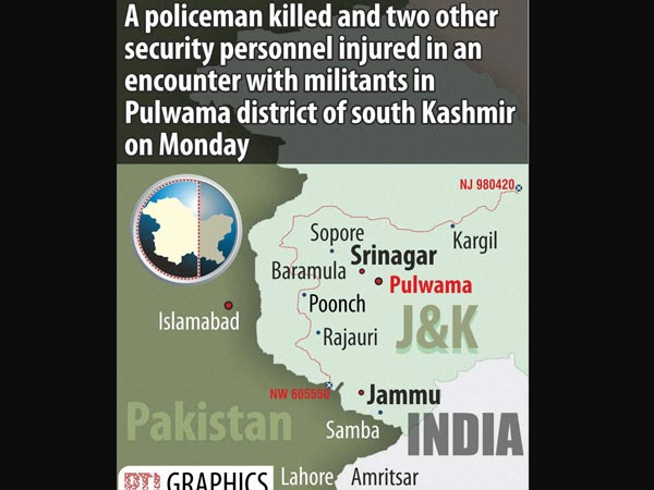 J&K gunbattle: 2 security men injured