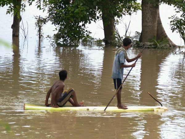 Floods hit Assam, destroy 300 villages