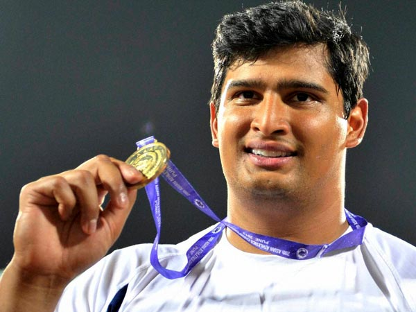 India's Vikas Gowda wins gold medal for India