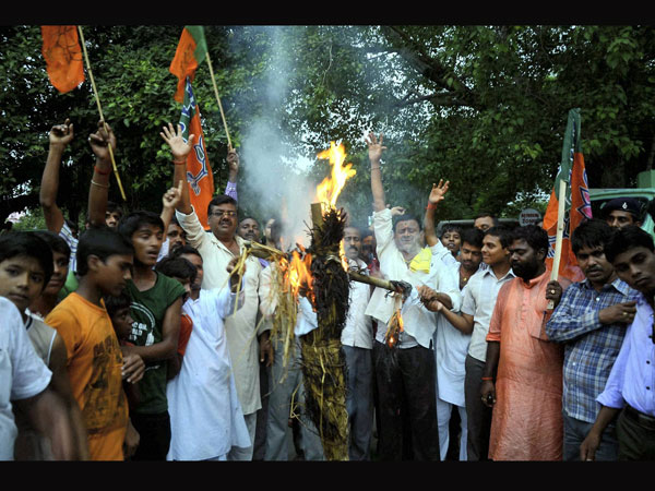 BJP activists burn