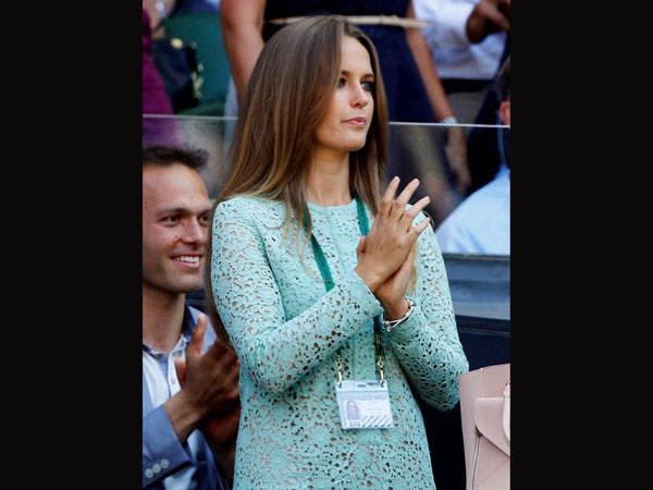 Kim Sears, the girlfriend of Andy Murray of Britain