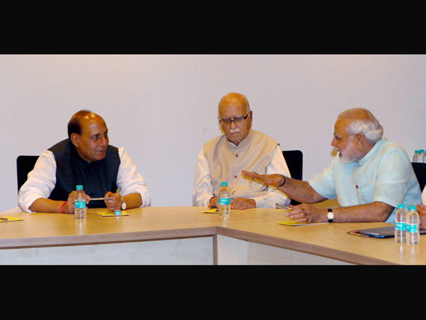 Senior leaders at BJP's Parliemantary Board meeting