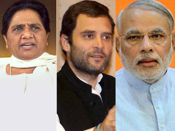 Mayawati, Rahul and Modi