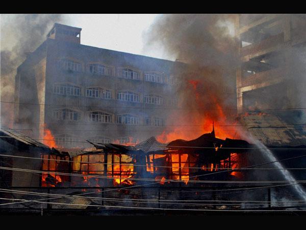 Fire breaks out at Srinagar secretariat