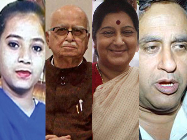 Ishrat, Advani, Sushma, Swaraj Kaushal