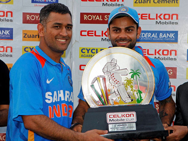 Yet another trophy in MSD's bag