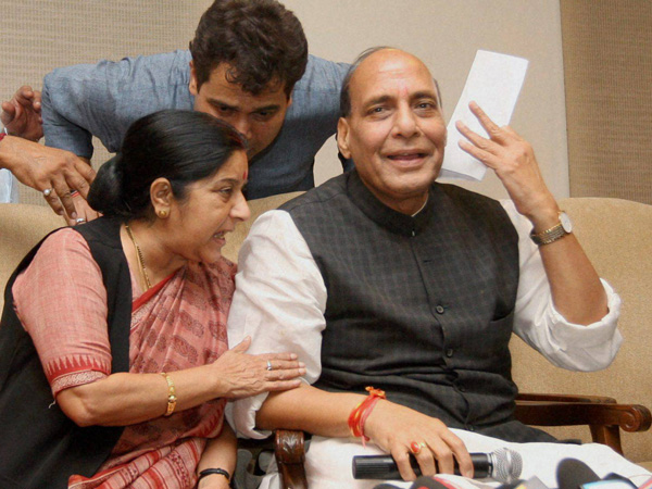 Rajnath Singh with Sushma Swaraj