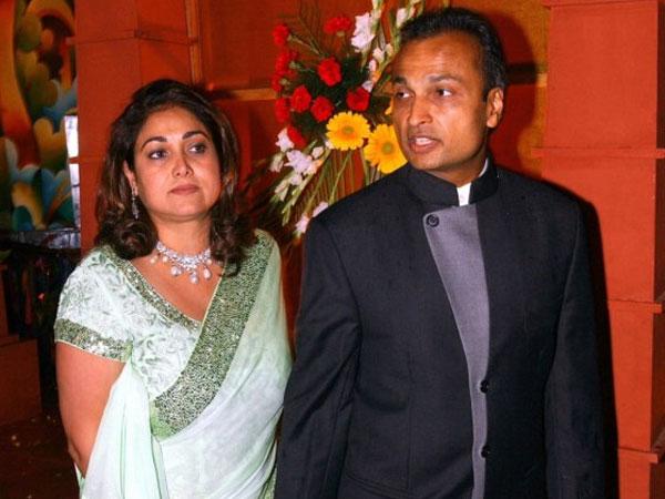 Tina and Anil Ambani