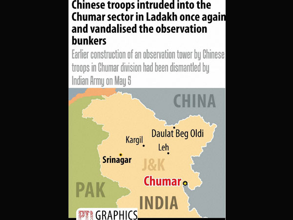 Chinese intrusion in Chumar continues