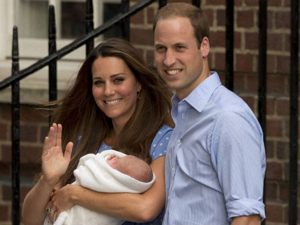 Kate and William with their newborn son