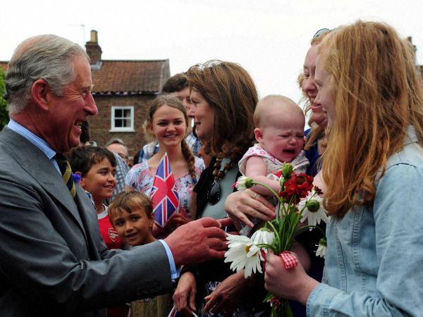 Prince Charles meets well-wishers