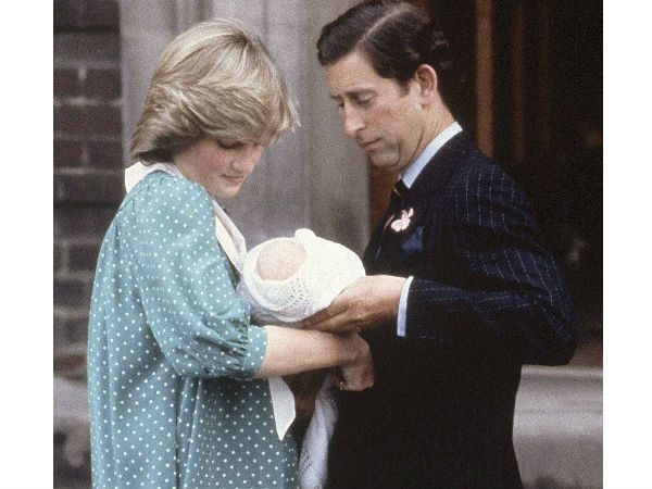 Prince Charles and Princess Diana with newborn William