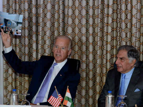 Joe Biden with Ratan Tata