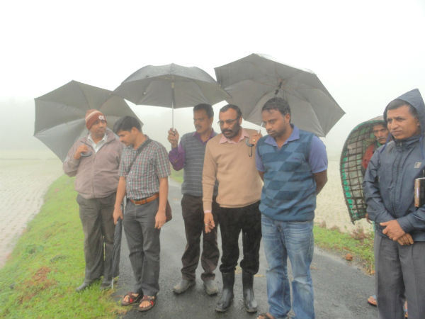 Tehsildar surveying