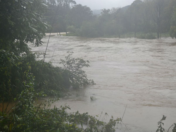 Rivers overflowing