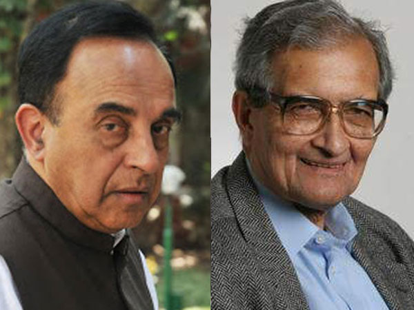 Subramanian Swamy and Amartya Sen
