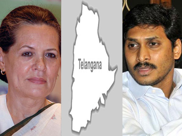 Sonia Gandhi, Telangana and Jagan