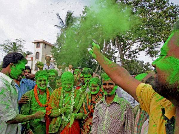 TMC celebration in WB post poll result