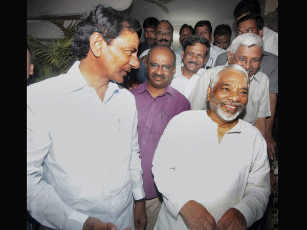 TRS chief with K Keshava Rao